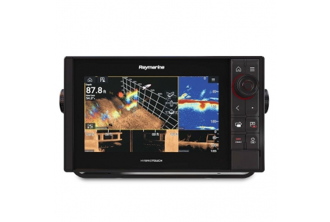 Raymarine Axiom 9 Pro RVX WiFi HybridTouch Farb-Multifunktionsdisplay mit integriertem 1 kW / Down / Side / RealVision 3D CHIRP